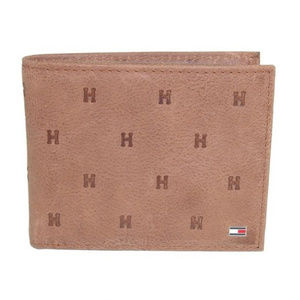 New Tommy Hilfiger Tan Leather Men's Wallet